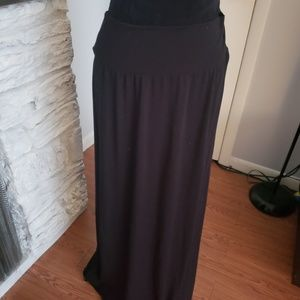 AB Studio long black maxi skirt. Size Large